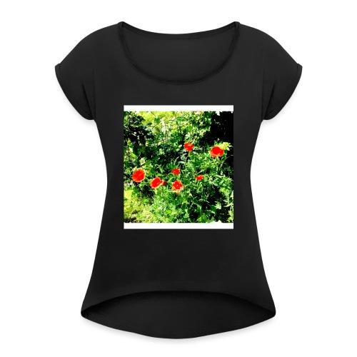 Papaveri - Maglietta da donna con risvolti