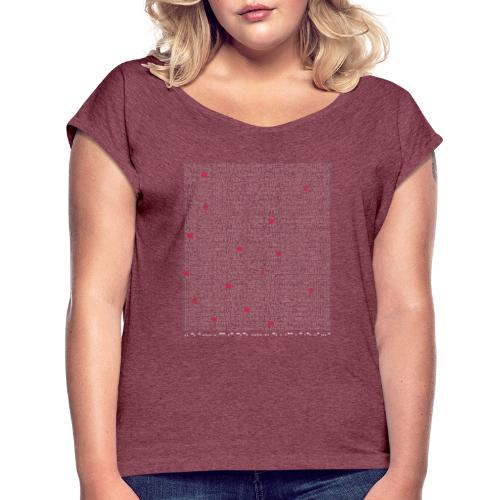 M-Wear   Machine Code - Women's T-Shirt with rolled up sleeves