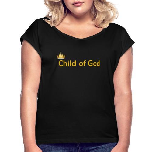 child of god - T-shirt à manches retroussées Femme