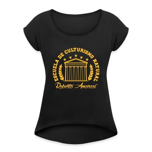 ECN - Camiseta con manga enrollada mujer