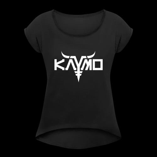 KayMo Logo - T-skjorte med rulleermer for kvinner