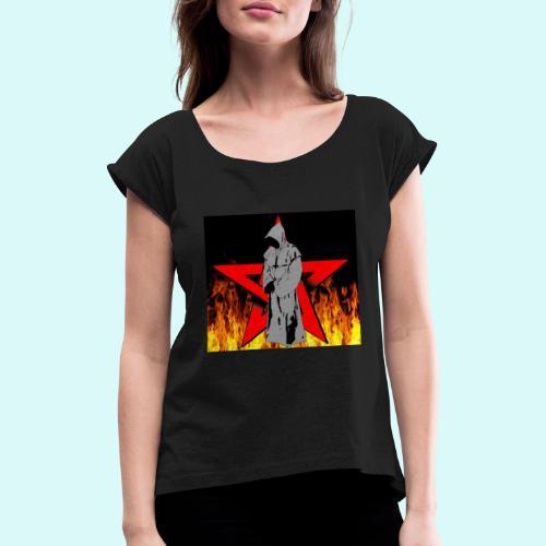 moine et pentagramme - T-shirt à manches retroussées Femme