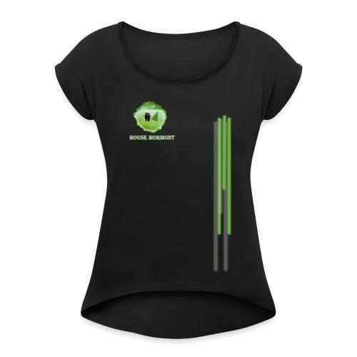 diseno mormot - Camiseta con manga enrollada mujer