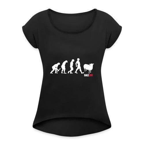 J'accuse (version light, par parek) - T-shirt à manches retroussées Femme