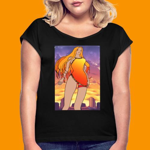 Lady Sunset - T-shirt à manches retroussées Femme
