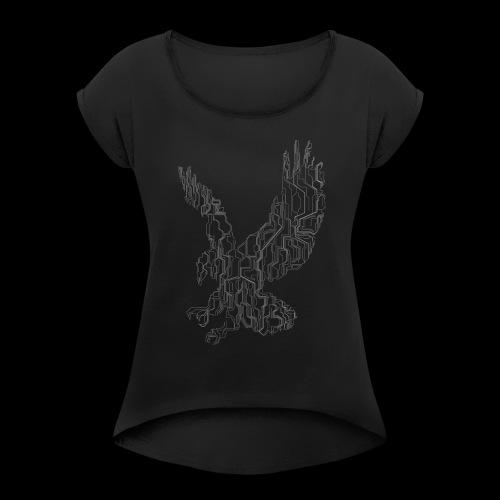 Circuit eagle White - Dame T-shirt med rulleærmer