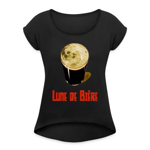 Logo Lune de Bière - T-shirt à manches retroussées Femme