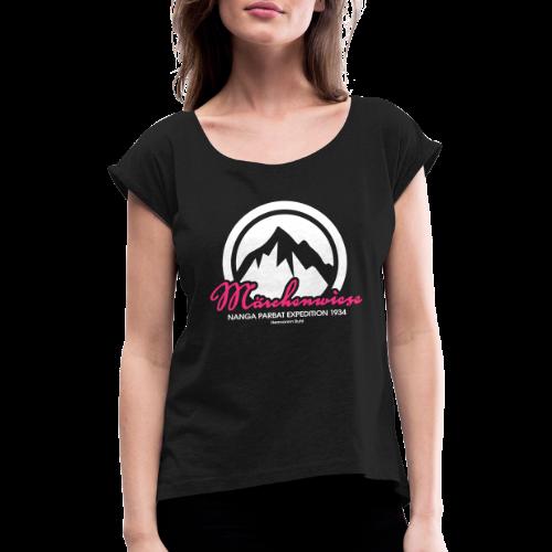 Märchenwiese - Frauen T-Shirt mit gerollten Ärmeln