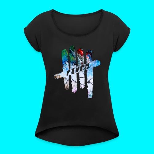 FIVES abstarct - T-shirt à manches retroussées Femme
