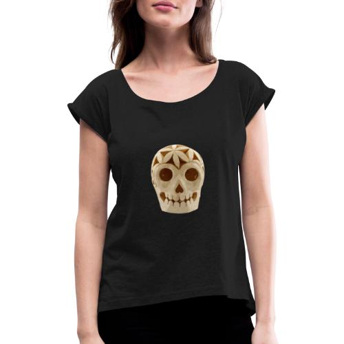 CRÁNEO MX - Camiseta con manga enrollada mujer