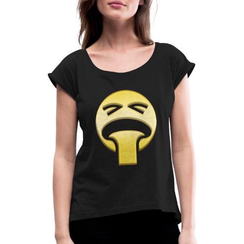 vomiting - T-shirt med upprullade ärmar dam