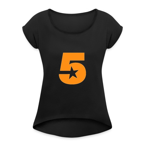 No5 - Women's T-Shirt with rolled up sleeves