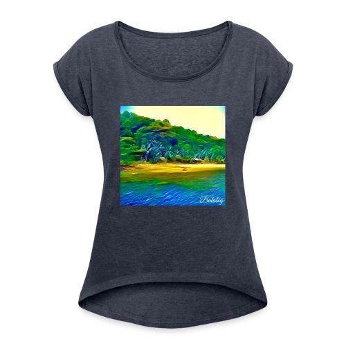 Tropical beach - Maglietta da donna con risvolti