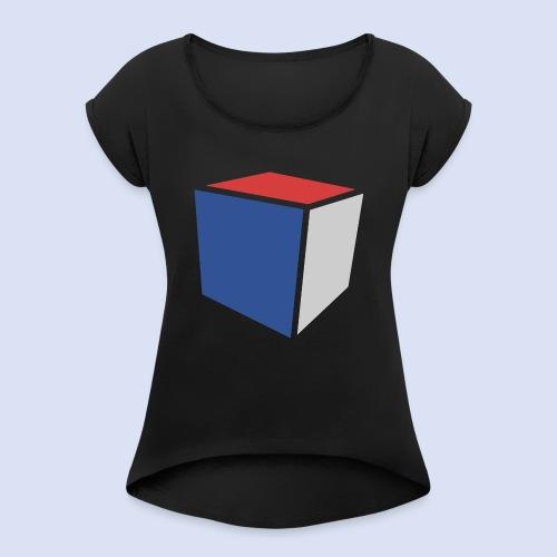 Cube Minimaliste - T-shirt à manches retroussées Femme