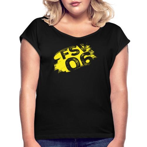 Hildburghausen FSV 06 Graffiti gelb - Frauen T-Shirt mit gerollten Ärmeln