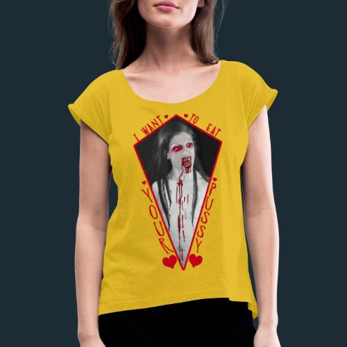 Love Vampire - Women's T-Shirt with rolled up sleeves