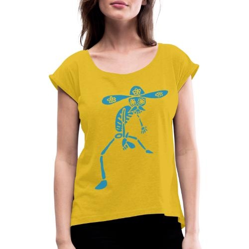 Calaveras - Frauen T-Shirt mit gerollten Ärmeln