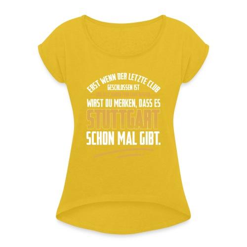 Rette Berlin ;) - Frauen T-Shirt mit gerollten Ärmeln