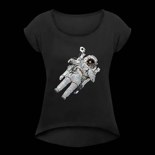 Small Astronaut - Women's T-Shirt with rolled up sleeves
