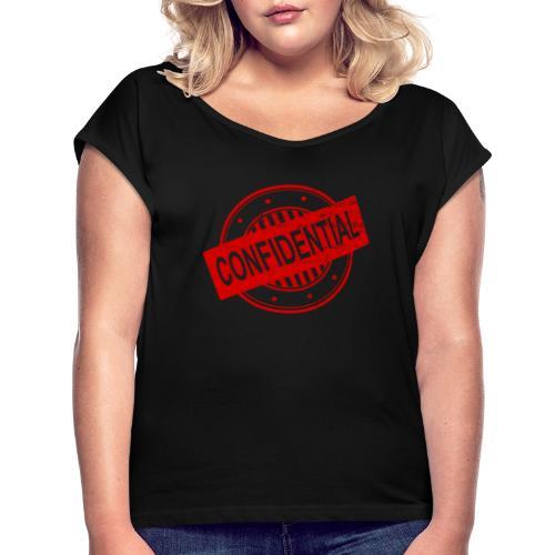 Confidential - T-shirt à manches retroussées Femme