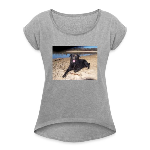 Käseköter - Women's T-Shirt with rolled up sleeves