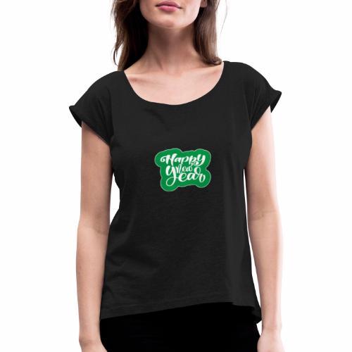 flubbers new year - Frauen T-Shirt mit gerollten Ärmeln