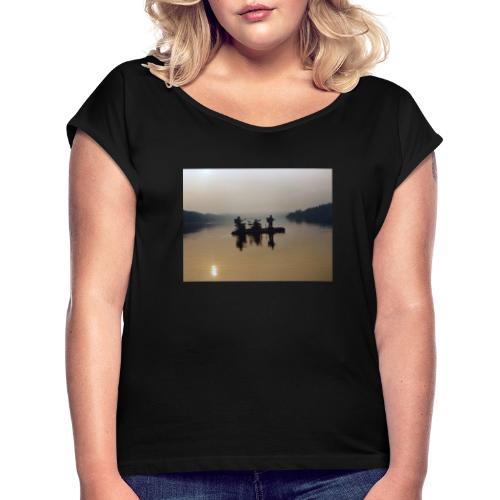 Live auf dem Staffelsee - Frauen T-Shirt mit gerollten Ärmeln