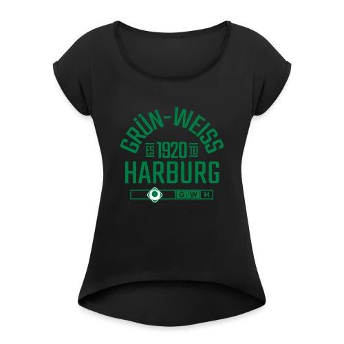 SV Grün-Weiss Harburg estd. - Frauen T-Shirt mit gerollten Ärmeln