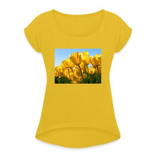 de natuur - Vrouwen T-shirt met opgerolde mouwen