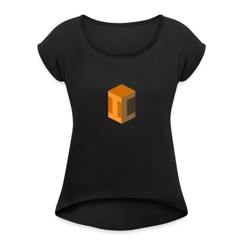 inconscareable!!!! - T-skjorte med rulleermer for kvinner