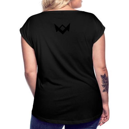 2xCyber 2xHydra - Frauen T-Shirt mit gerollten Ärmeln