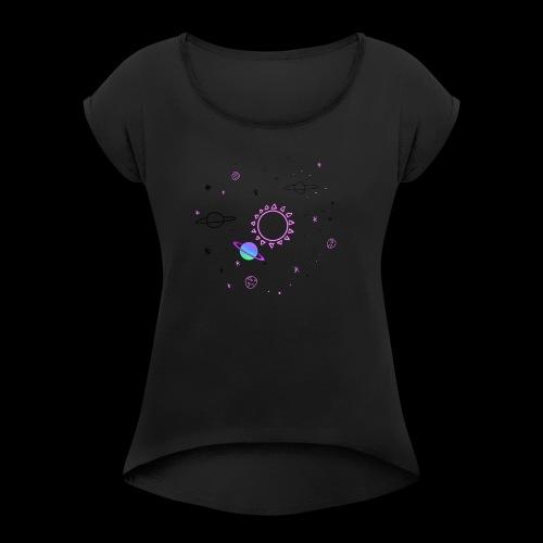 240056861008212 - Camiseta con manga enrollada mujer