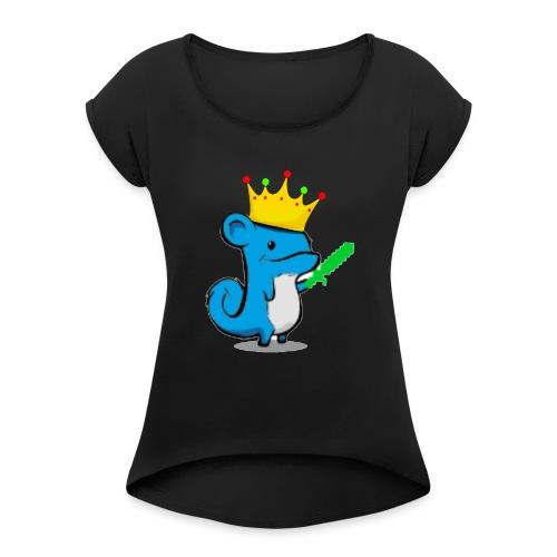 hybridefishy // 6/6s Cover - T-skjorte med rulleermer for kvinner