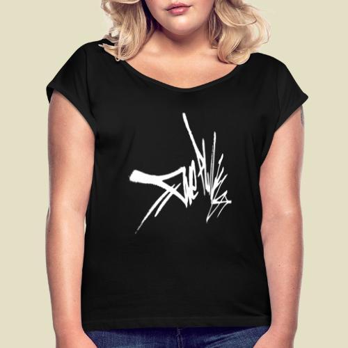 tag - Frauen T-Shirt mit gerollten Ärmeln