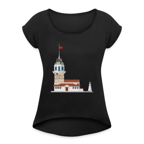 Kiz Kulesi - Vrouwen T-shirt met opgerolde mouwen