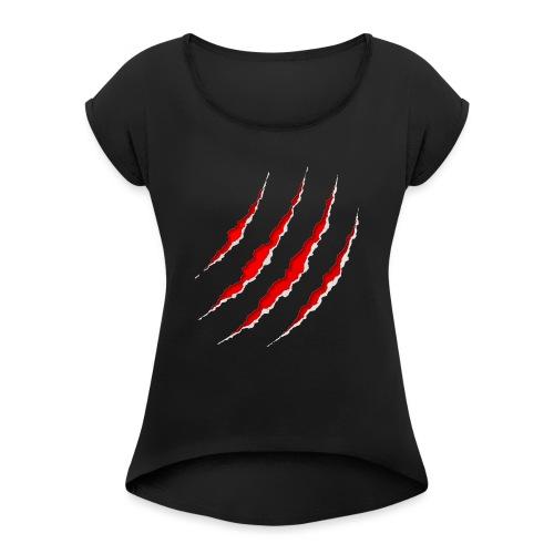 Scars - Dame T-shirt med rulleærmer