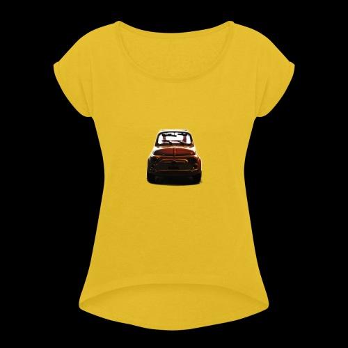 500gold - Maglietta da donna con risvolti