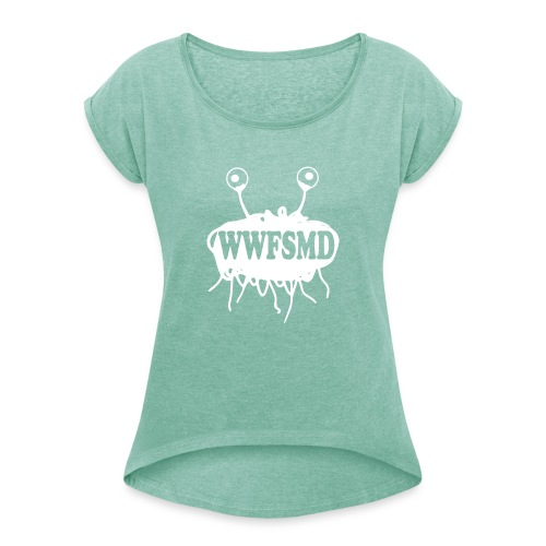 WWFSMD - Women's T-Shirt with rolled up sleeves