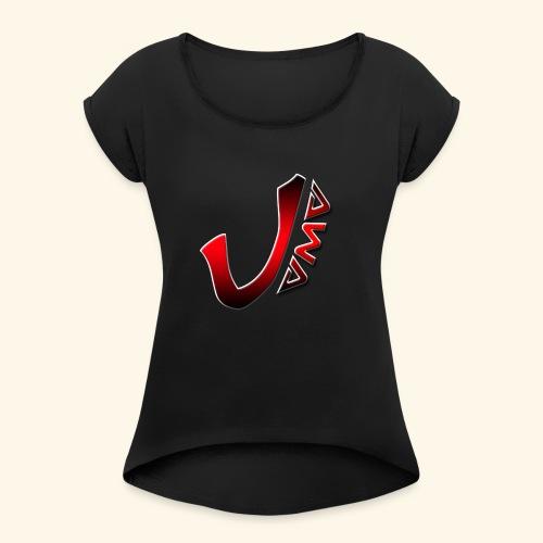 JAWATEAM - T-shirt à manches retroussées Femme