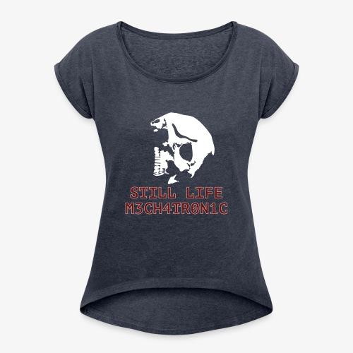 Still Life - T-shirt med upprullade ärmar dam