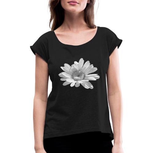 Margerite - Frauen T-Shirt mit gerollten Ärmeln