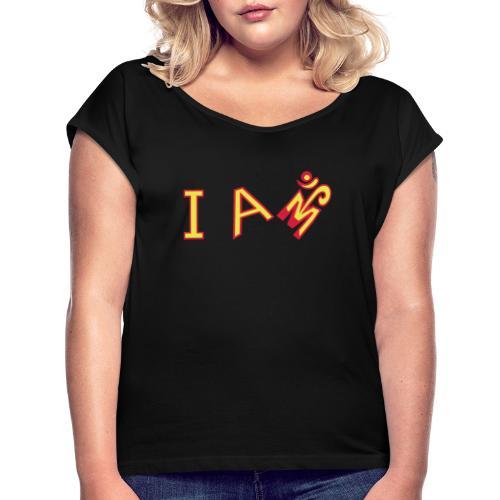 Jeg er Om - Dame T-shirt med rulleærmer