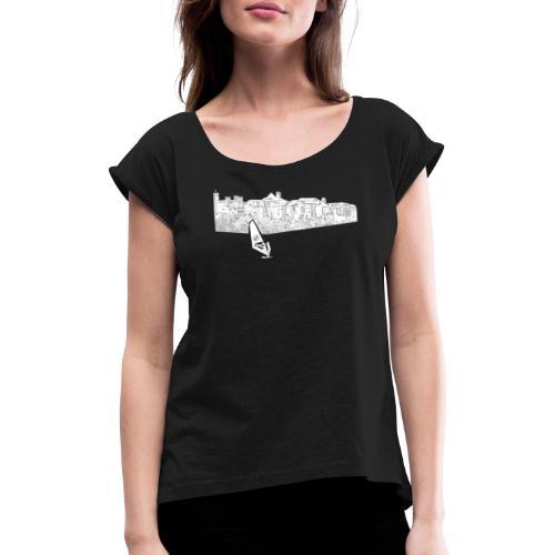 Bolsena Surfer - Frauen T-Shirt mit gerollten Ärmeln