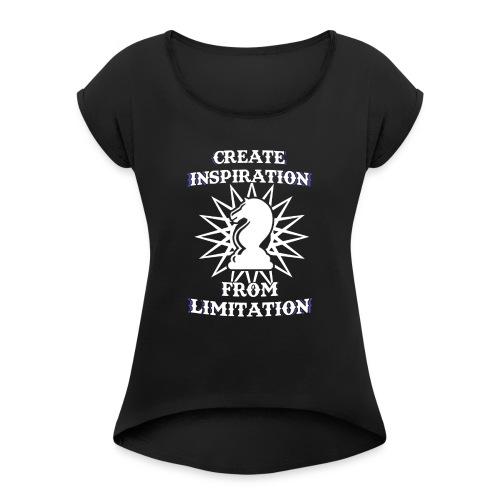 Chesster Tasse - Frauen T-Shirt mit gerollten Ärmeln