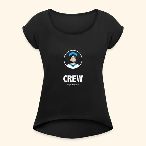 SeaProof Crew - Frauen T-Shirt mit gerollten Ärmeln
