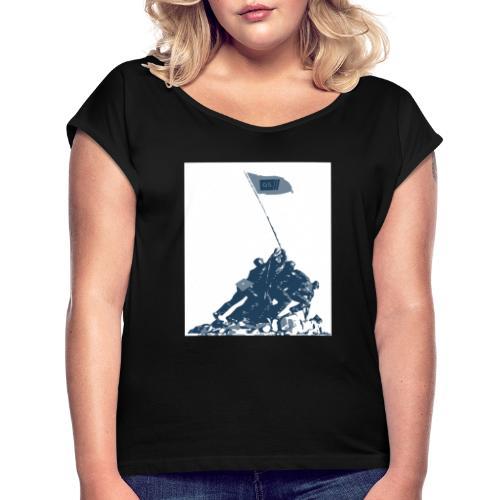 GS monument 1 1 - Frauen T-Shirt mit gerollten Ärmeln