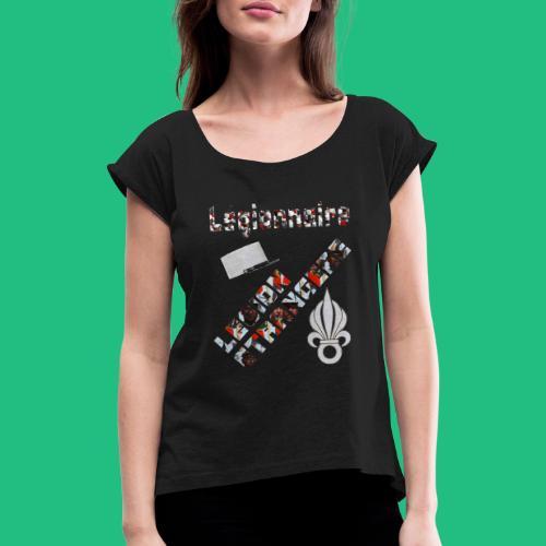 leg legion - T-shirt à manches retroussées Femme