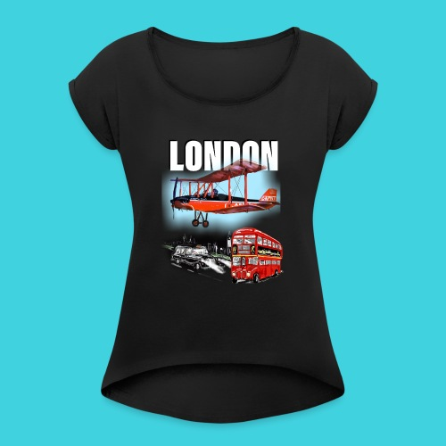 London by day and night! - Women's T-Shirt with rolled up sleeves