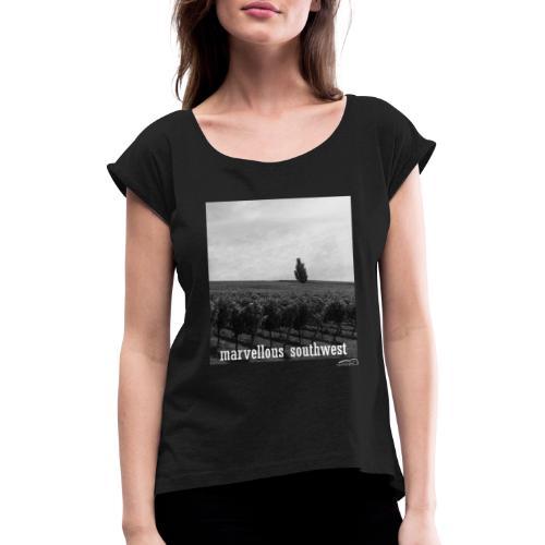 marvellous southwest - Frauen T-Shirt mit gerollten Ärmeln