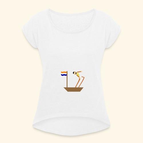 VOC-mentaliteit - Vrouwen T-shirt met opgerolde mouwen